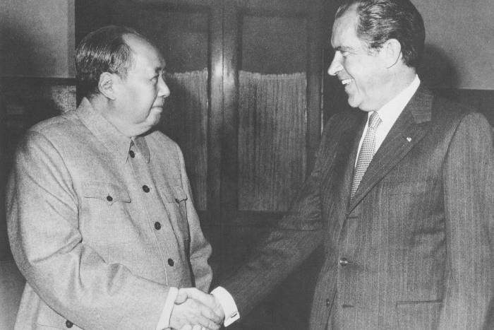 Former US President Richard Nixon's 1972 visit to China, where he met Mao Zedong, marked the beginning of a shift in relations between Washington and Taiwan