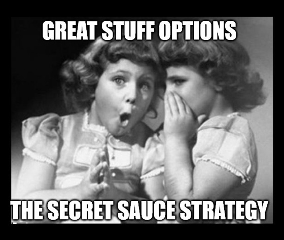 "Welcome to day 3 of Great Stuff's primer on trading options. Today, we cover the ultimate ""secret sauce"" of options trading strategies."