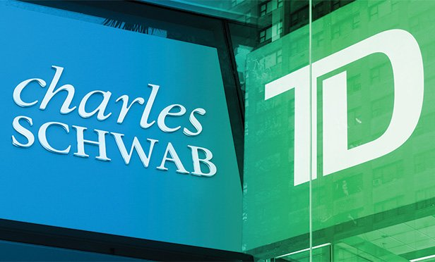images of Schwab and TD Ameritrade signs